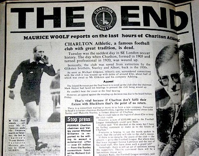 The Mercury reports the news of Charlton's apparent demise